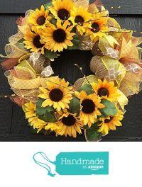 17 Best ideas about Sunflower Burlap Wreaths on Pinterest ...