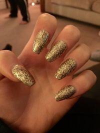 Best 25+ Gold acrylic nails ideas on Pinterest