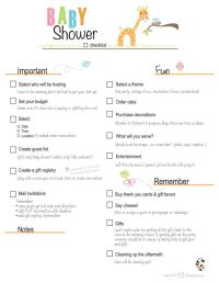 Free Printable Baby Shower Checklist | ... paste the link ...