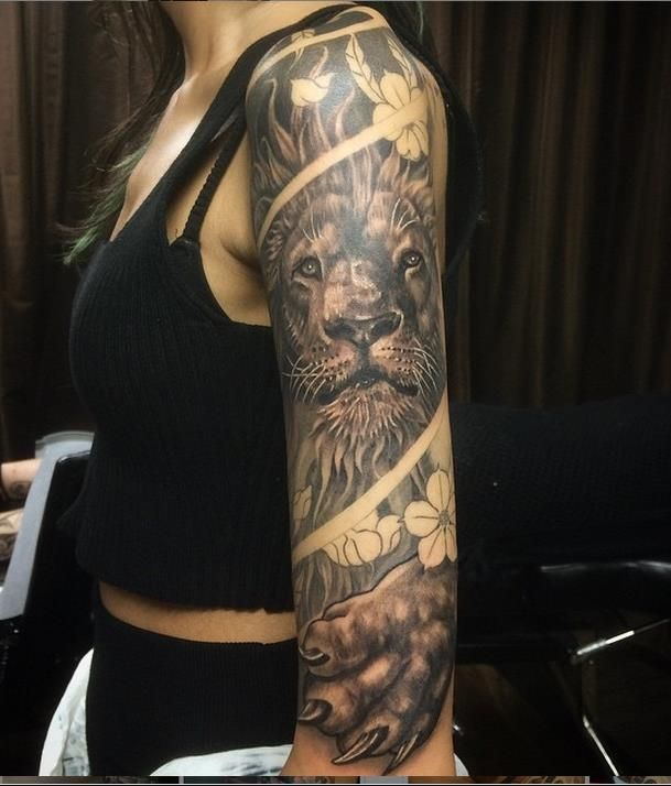 17 Best Ideas About Lion Tattoo Sleeves On Pinterest