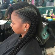 double cornrows dreads braids
