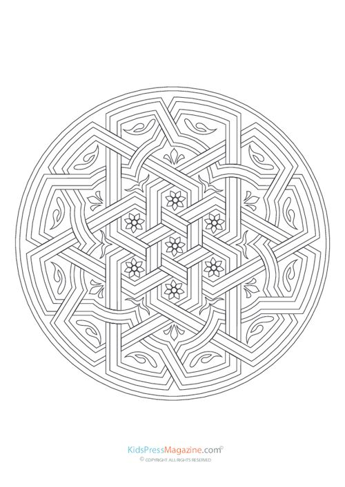 97 best images about Mandalas Coloring Pages on Pinterest