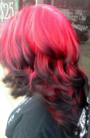 ooooh reverse red and black ombre