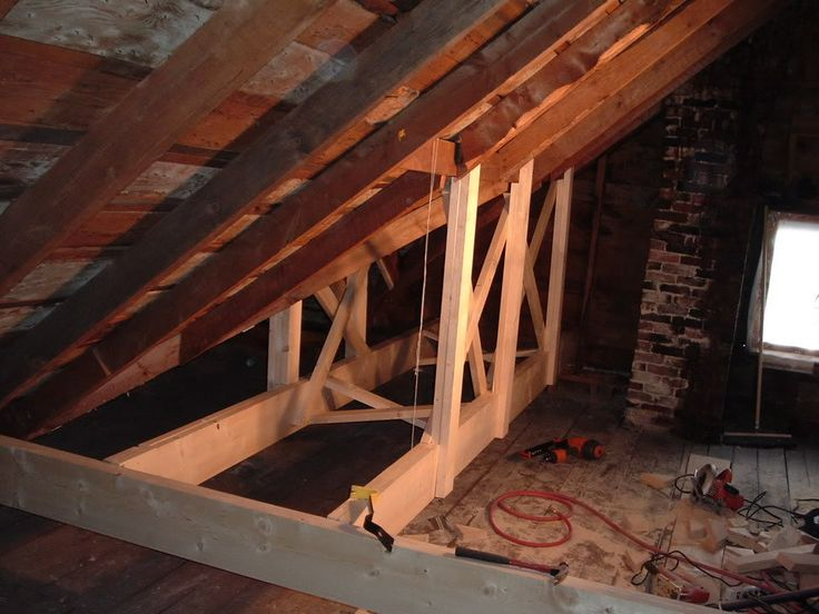 added trusses to reinforce the roof  DIY Home  Pinterest