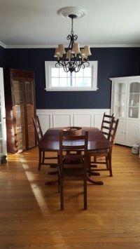 Benjamin Moore hale navy dining room