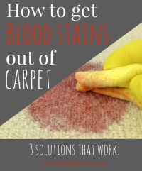 blood stain | For the Home | Pinterest | Carpets, Stains ...