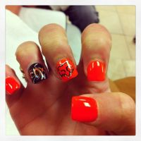 Fox Racing Nails