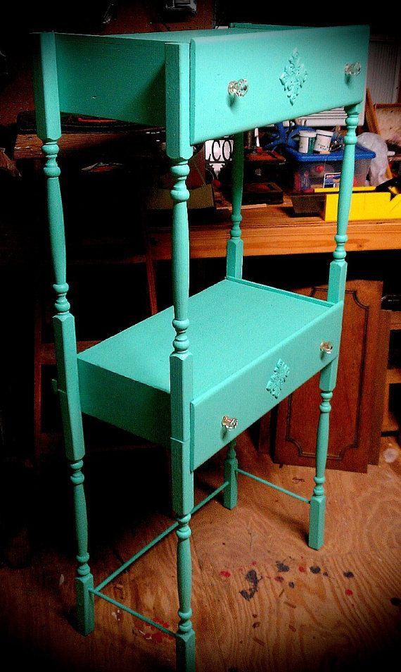 Painted Vintage Shelf Repurposed Dresser by