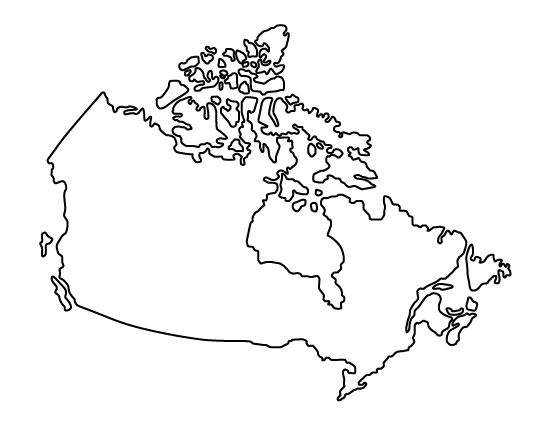 Canada pattern. Use the printable outline for crafts