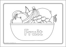 Colouring sheets and Fruit on Pinterest