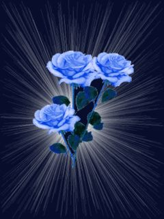 Pretty Wallpapers Rose Quotes Blue Glitter Graphics Animated Gifs 187 Flowers 187 Blue And