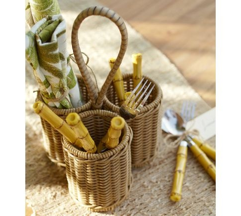 Silverware caddy Flatware and Outdoor kitchens on Pinterest