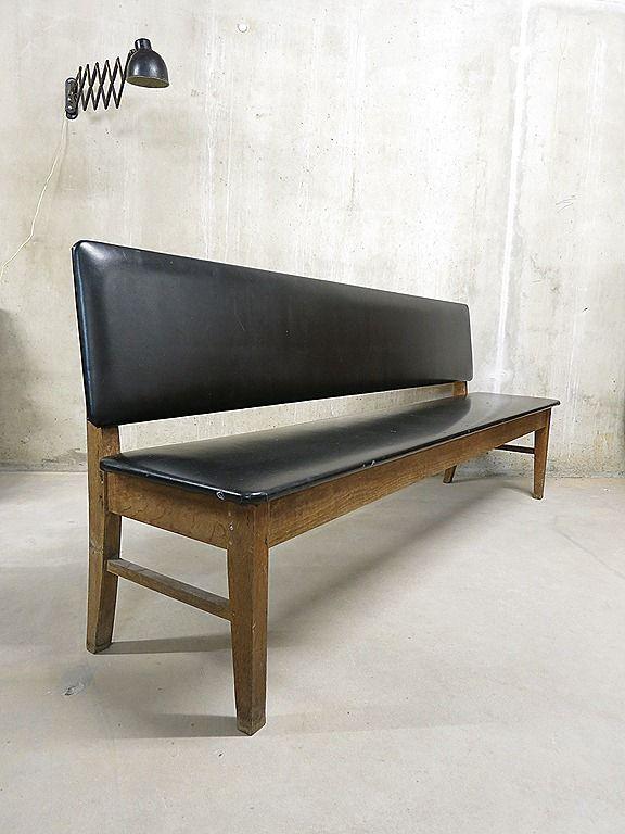vintage sofa bench danish industrial vintage bank