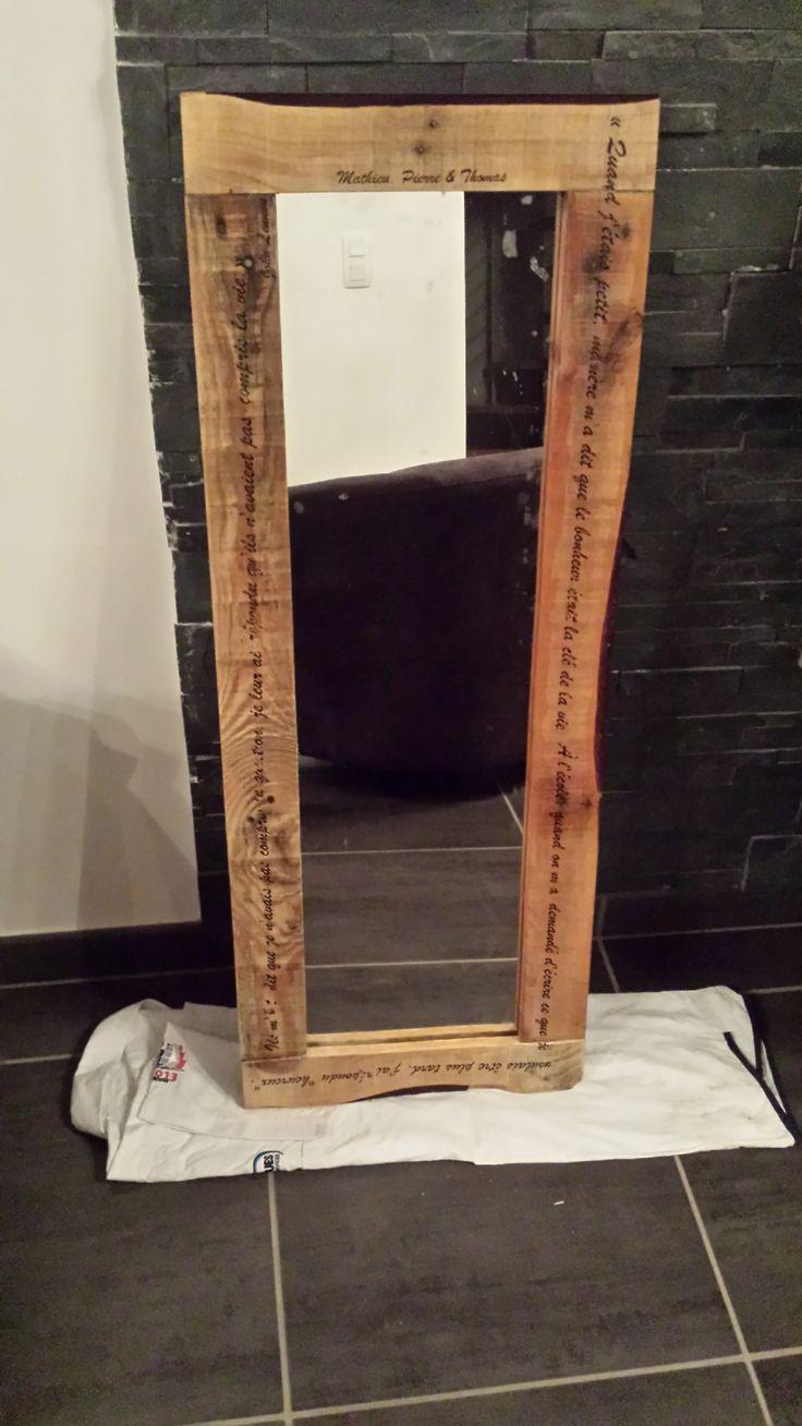 elegant pallet mirror miroir en palette recycl e avec for miroir antique en bois with miroir bois naturel