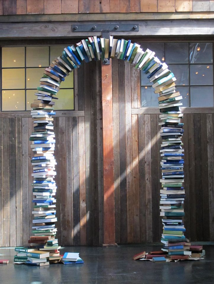 Book Themed Wedding Arch The Book Arch Was Custom