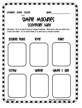 17 Best images about Simple Machines grade 1 on Pinterest