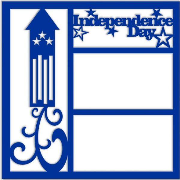Independence Day Laser Die Cut Scrapbook Overlay