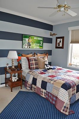Northern Nesting Striped Accent Wall I Ve Already Planned To Do Painting Ideas For Walls Bedroom Boyspaint Color