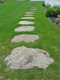 flagstone stepper walkway through grass | Garcia Residence ...