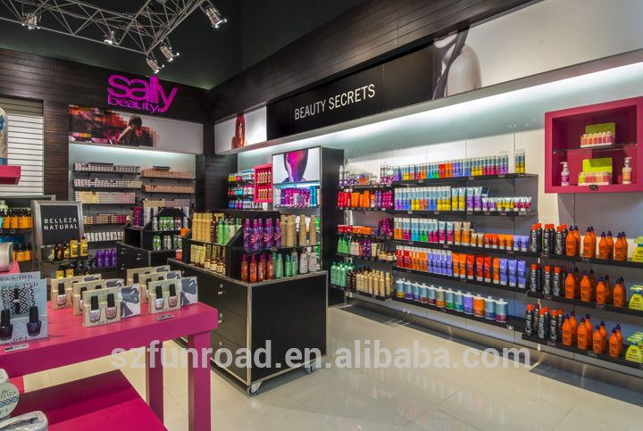 Cosmetic Store Wooden Display ShowcaseCosmetic Shop