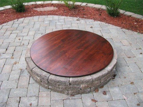 25 best ideas about Fire pit covers on Pinterest  Table