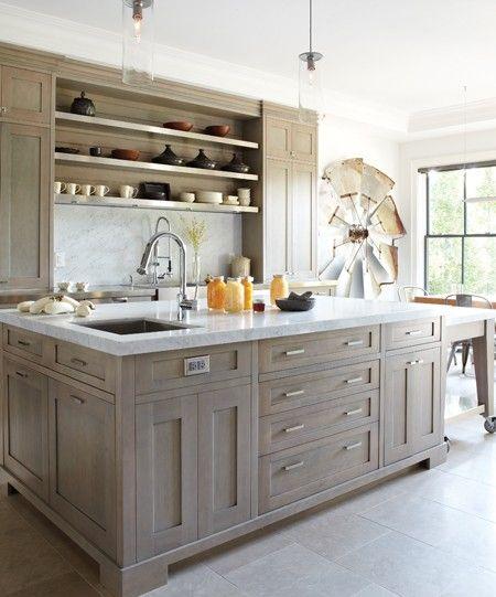 Light Grey Washed Cabinets  white washedish  Pinterest