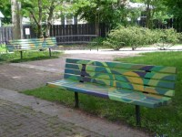 Painted Garden Bench Ideas Photograph | painted these park b