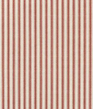 Waverly Timeless Ticking  Crimson Fabric  Fabric online