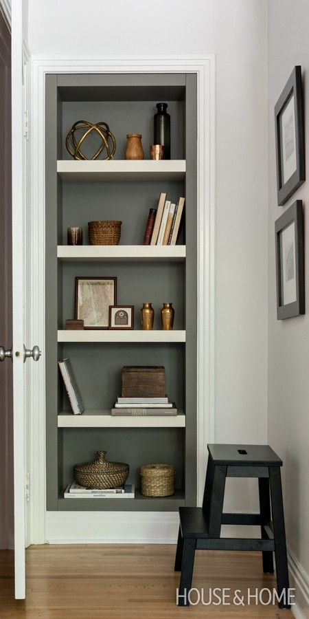 25 Best Ideas About Painted Bookshelves On Pinterest