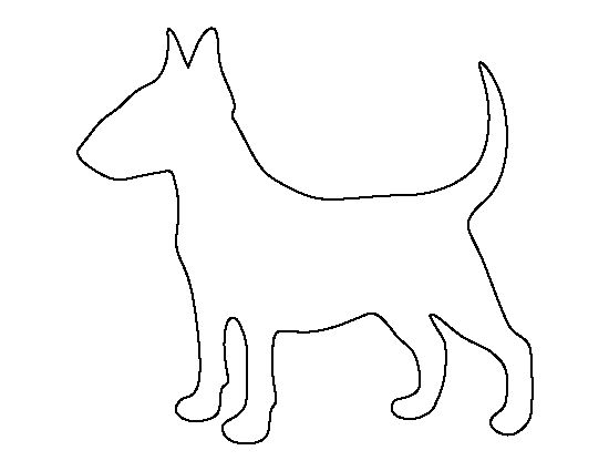 Bull Terrier pattern. Use the printable outline for crafts