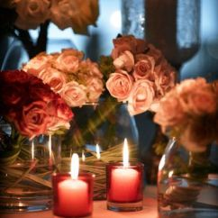 Kitchen Table Light Fixtures Chef Design Jw Marriott Hotel Jakarta Romantic Flowers And Candle ...