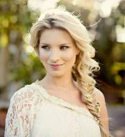 pretty fishtail braid bridesmaid
