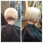 inverted bob with clippered nape