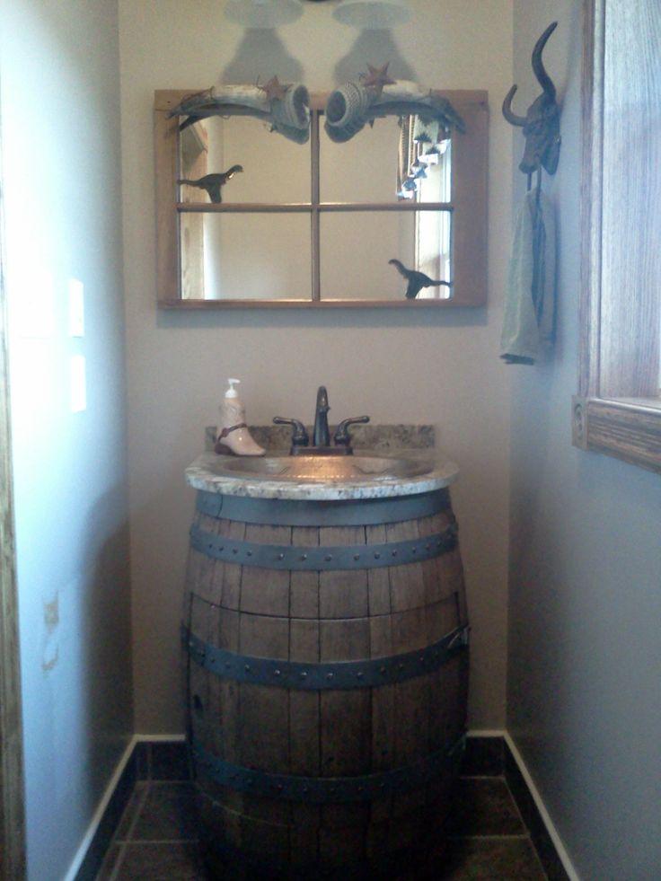 Wine Barrel sink  Bathroom sink  Pinterest  Wine