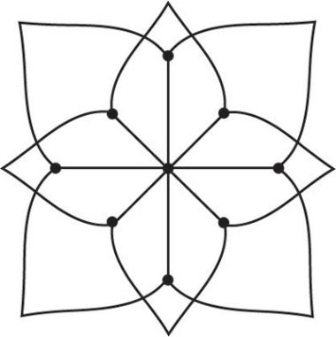 Simple Kolam--A Kolam is a geometrical line drawing