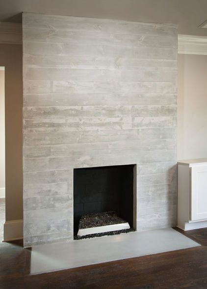white washed concrete planks fireplace  Tool Belt Projects  Pinterest  Fireplaces and Planks