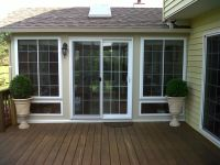 French style sliding glass door. Porch lights for deck ...