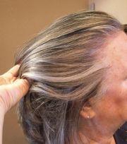 blending in grey brown hair