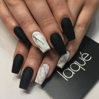 25+ best ideas about Black acrylic nails on Pinterest