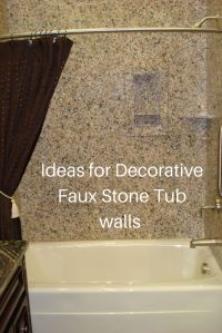 Ideas for easy to install DIY decorative faux stone tub