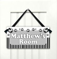 Football Soccer Door SIGN Nursery Room Decor Bedroom