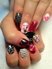 gel nail art solid color nails