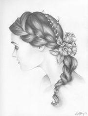 art braid calm delicate drawing