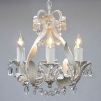 Mini Small White Crystal Chandelier Bedroom Baby Nursery ...