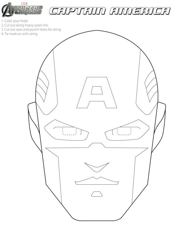 Free #Avengers Printable Halloween Masks to color