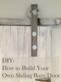 Learn how to make your own sliding barn door. All I did ...