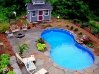 Design Layout Ideas for Pool Landscaping: inground pool ...