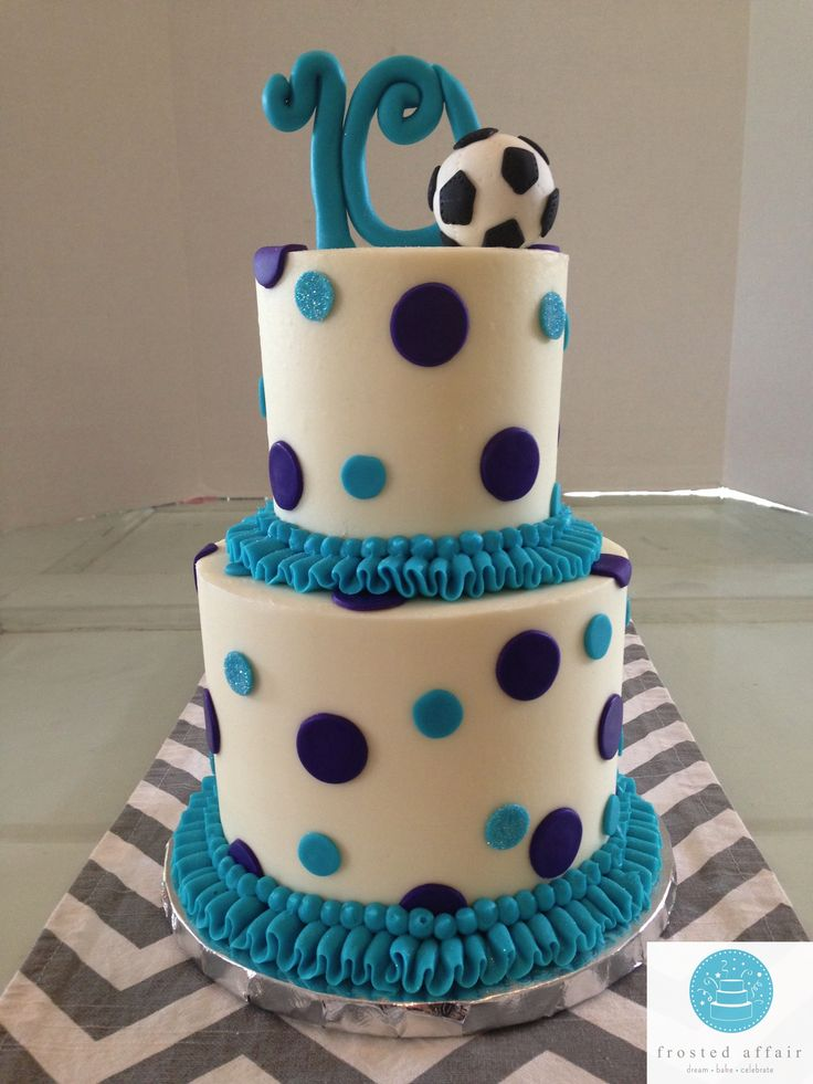 Buttercream Birthday Cake Perfect For A Soccer Star