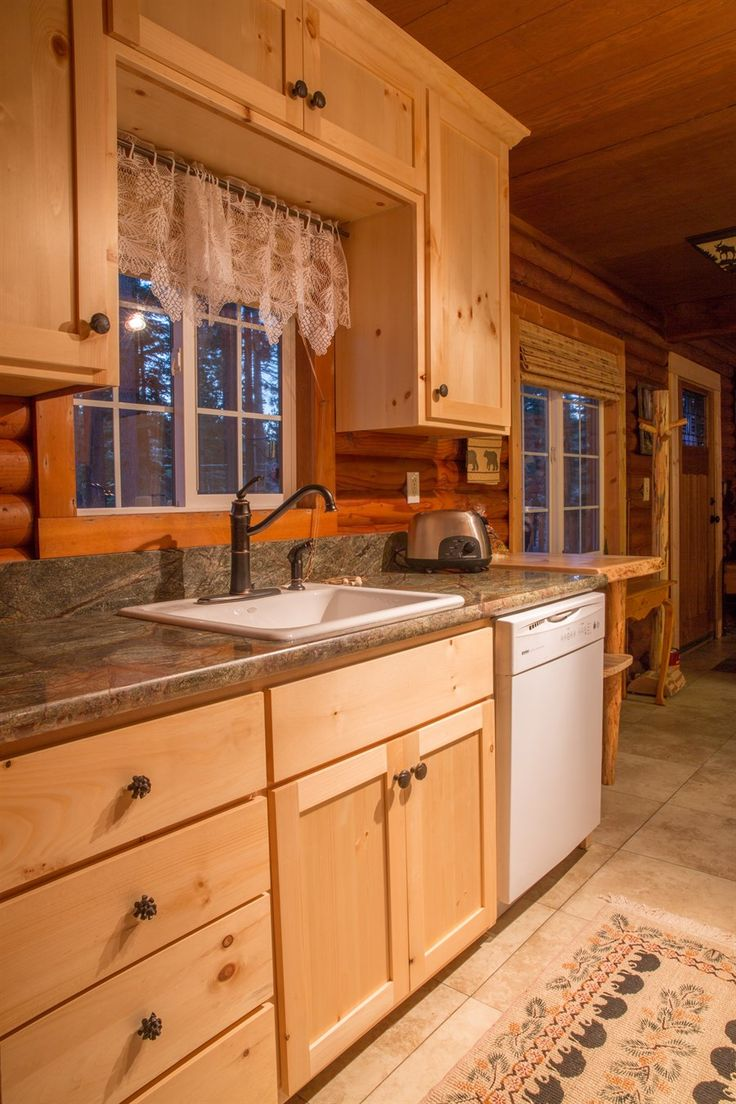 Authentic Log Cabin Rental 1  medium counter tops  Pinterest  Cabin rentals Logs and Log