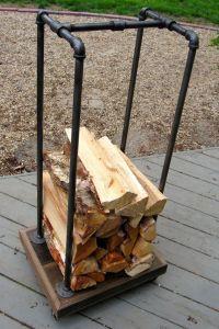 Best 25+ Industrial firewood racks ideas on Pinterest